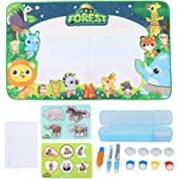Water Doodle Mat, Portable Drawing Board, Safe for Kids(LS15090 bagged big forest 100 * 60cm canvas)