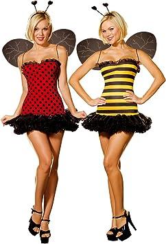 Cesar - Pack de 2 disfraces de abeja y mariquita sexys para mujer ...