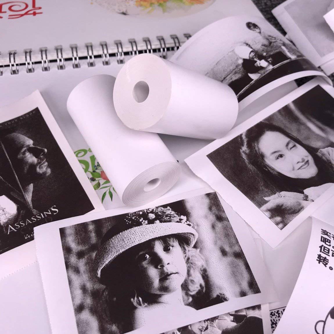 5 rollos de papel adhesivo imprimible Papel térmico directo ...