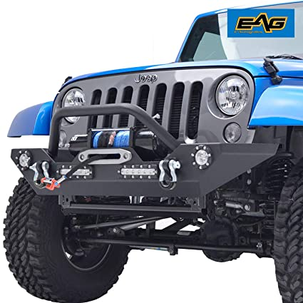Peachy Amazon Com Eag Front Bumper With Led Lights And Winch Plate For 07 Wiring Cloud Hisonuggs Outletorg