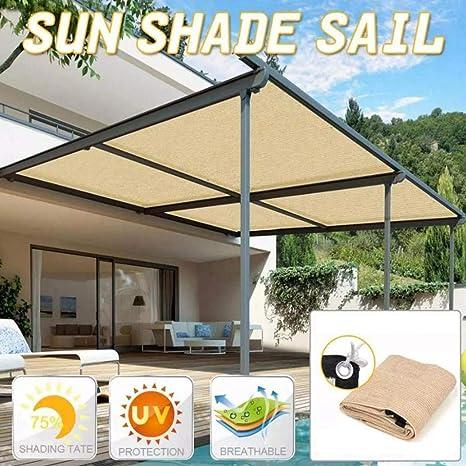 Imagen deJunio1 Toldo para toldo con Protector Solar para Patio, jardín, Exterior, Resistente a los Rayos UV Telas para toldos
