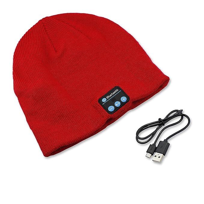 PsmGoods® Musica di Bluetooth Caldo Molle Beanie della Protezione del  Cappello con Cuffie Stereo Headset 85693fcf5e62