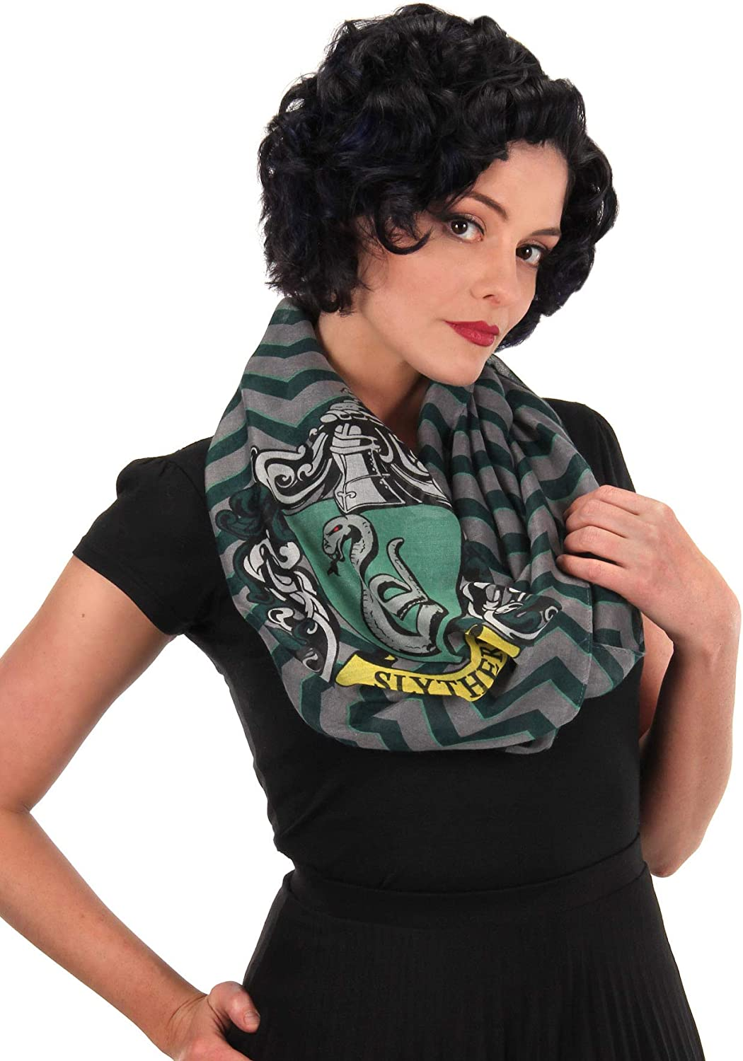 Harry Potter™ Houses Infinity Scarf Black