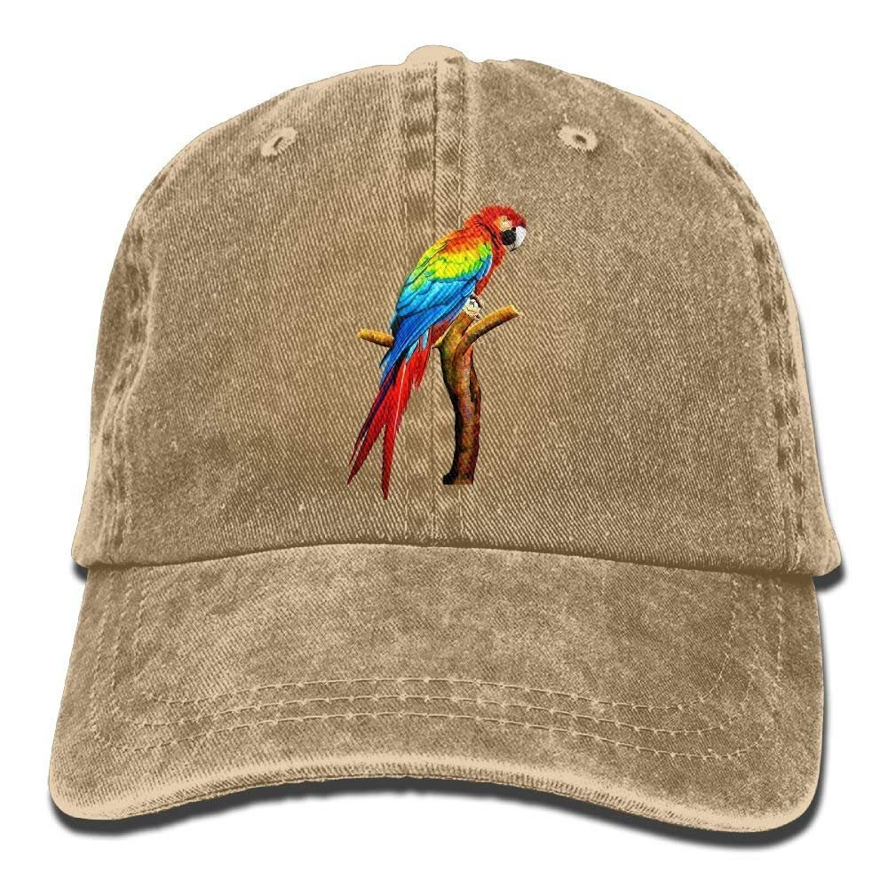 Parrot Denim Baseball Caps Hat Adjustable Cotton Sport Strap Cap for Men Women JTRVW Cowboy Hats