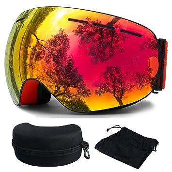 Skibrille, Ski Snowboardbrille Brillenträger Schneebrille