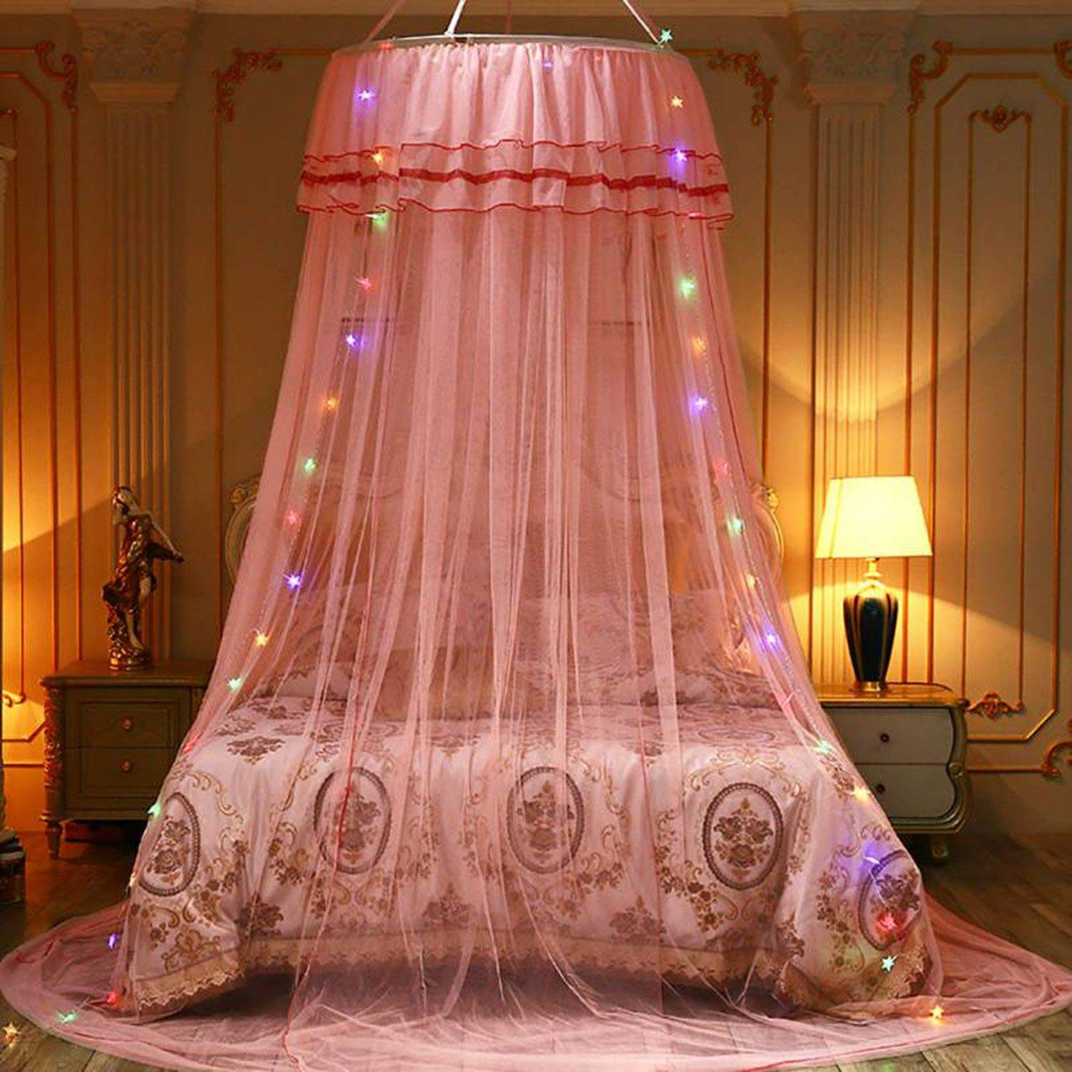 Elegant Canopy Mosquito Net for Double Bed Mosquito Repellent Tent Insect Reject Canopy Bed Curtain Bed Tent,3 by Try My Best Mosquito Net (Image #2)