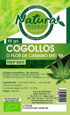 Natura Premium Cáñamo - Cogollos Bio, 55 g: Amazon.es: Alimentación y bebidas