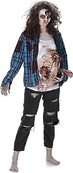 Generique - Disfraz de Zombie Barriga de látex Mujer Halloween S ...