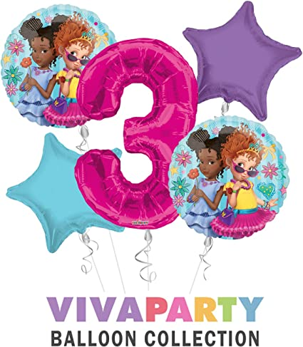 Fancy Nancy Happy Birthday Balloon Bouquet 5 pc, 3rd Birthday, | Viva Party Balloon Collection