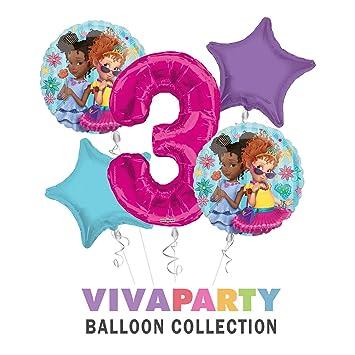 Amazon.com: Ramos de globos de feliz cumpleaños Fancy Nancy ...