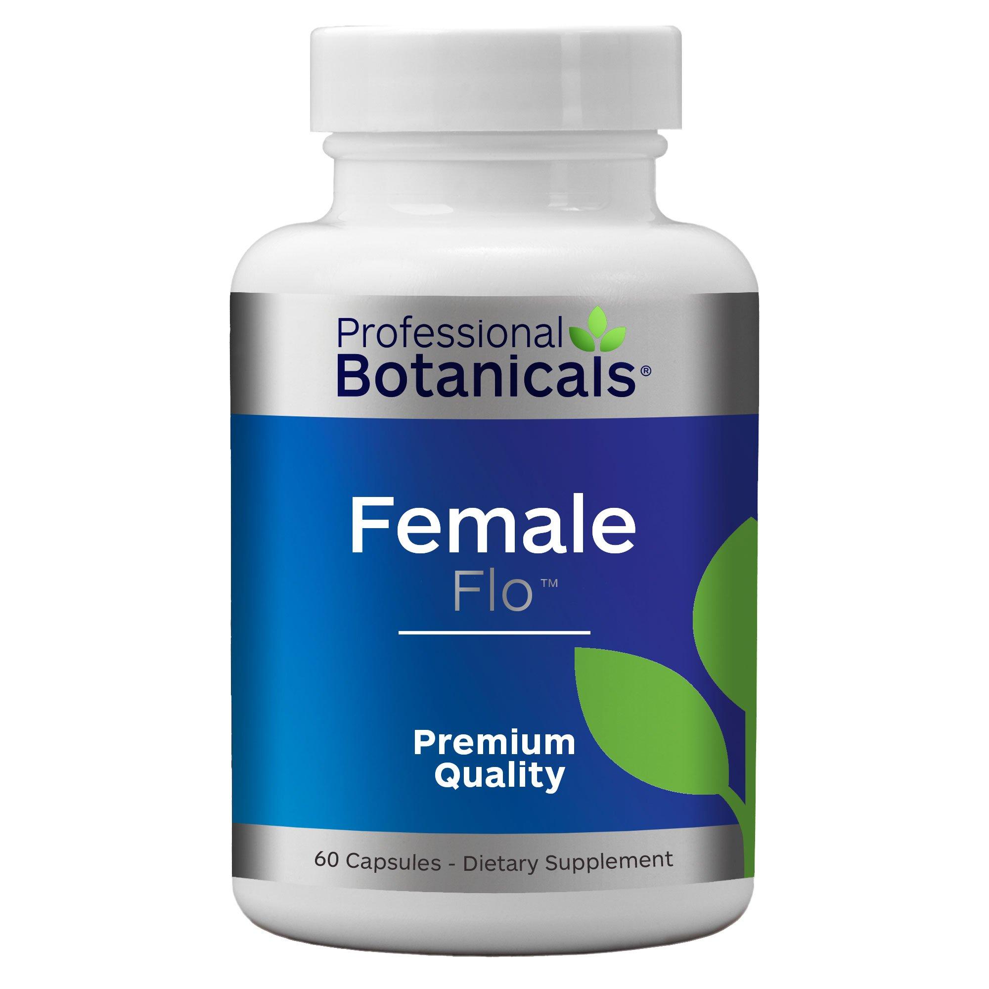 Professional Botanicals Female Flo - Vegan Natural Herbal Menstrual PMS Relief Supplement Helps Relieve Bloating and Cramping - 60 Vegetarian Capsules