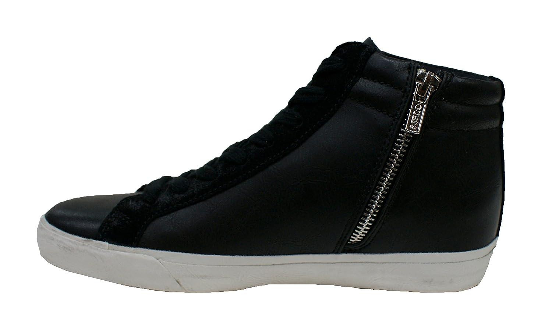 Guess Sneaker Mujer Holly Stivaletto cuña Aumentar Cm 3 Lea Black_36 MG5H6hJB1c