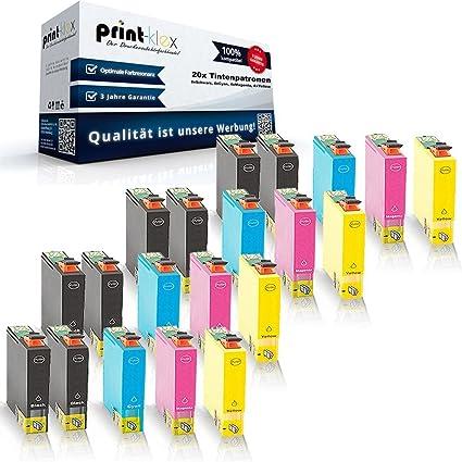 20 x cartuchos de tinta compatibles para Epson Workforce WF 2530 ...