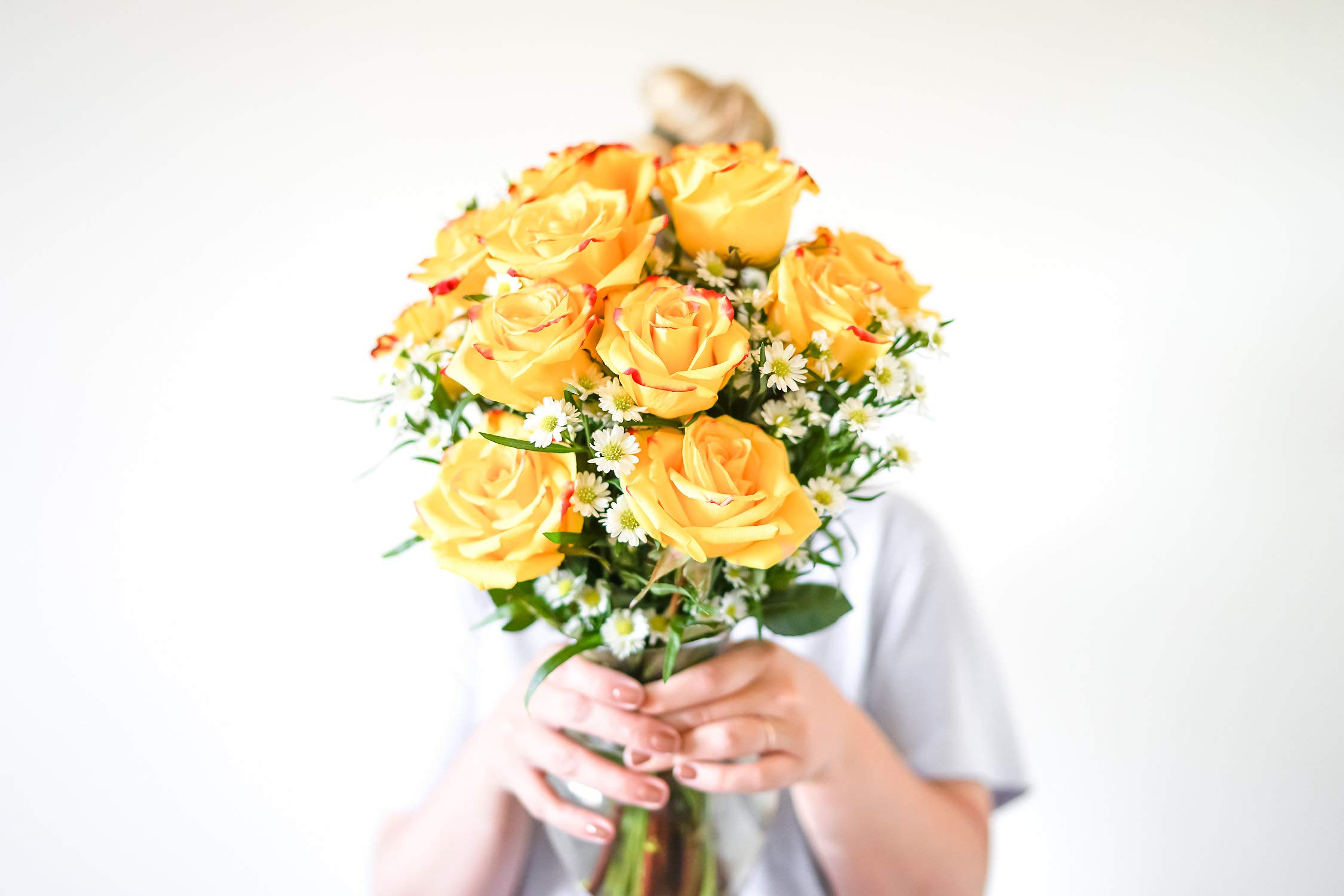 Flowers - One Dozen Festive Roses (Free Vase Included) by From You Flowers (Image #1)