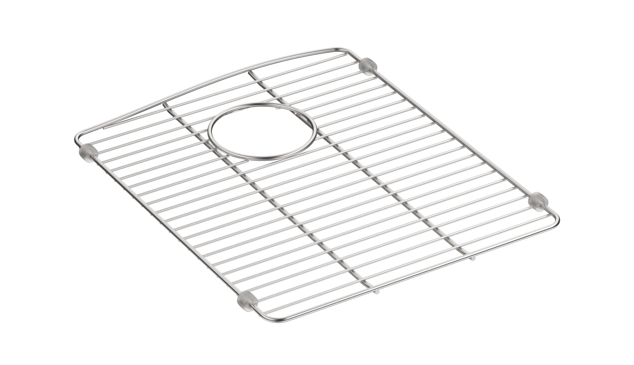 "Kohler 5186-ST Bottom Basin Rack (Right Side of Sink) Stainless steel Sink Rack, 13 5/8"" x 16 1/2"", For Right-Hand Bowl; Stainless steel by Kohler"