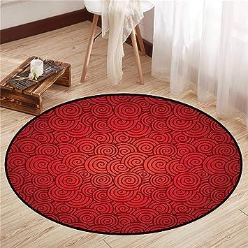 Amazon.com: Alfombrilla redonda para suelo de yoga, redonda ...