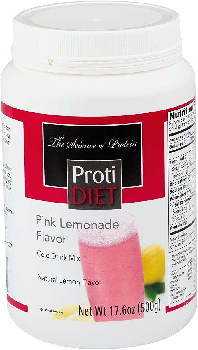 Amazon Com Protidietpink Lemonade Drink Mix 24 Servings Health