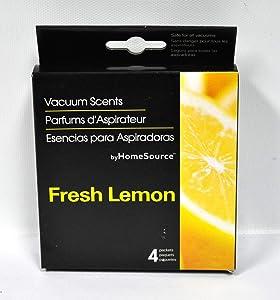 Home Source Lemon Vacuum Scent 4 Pack