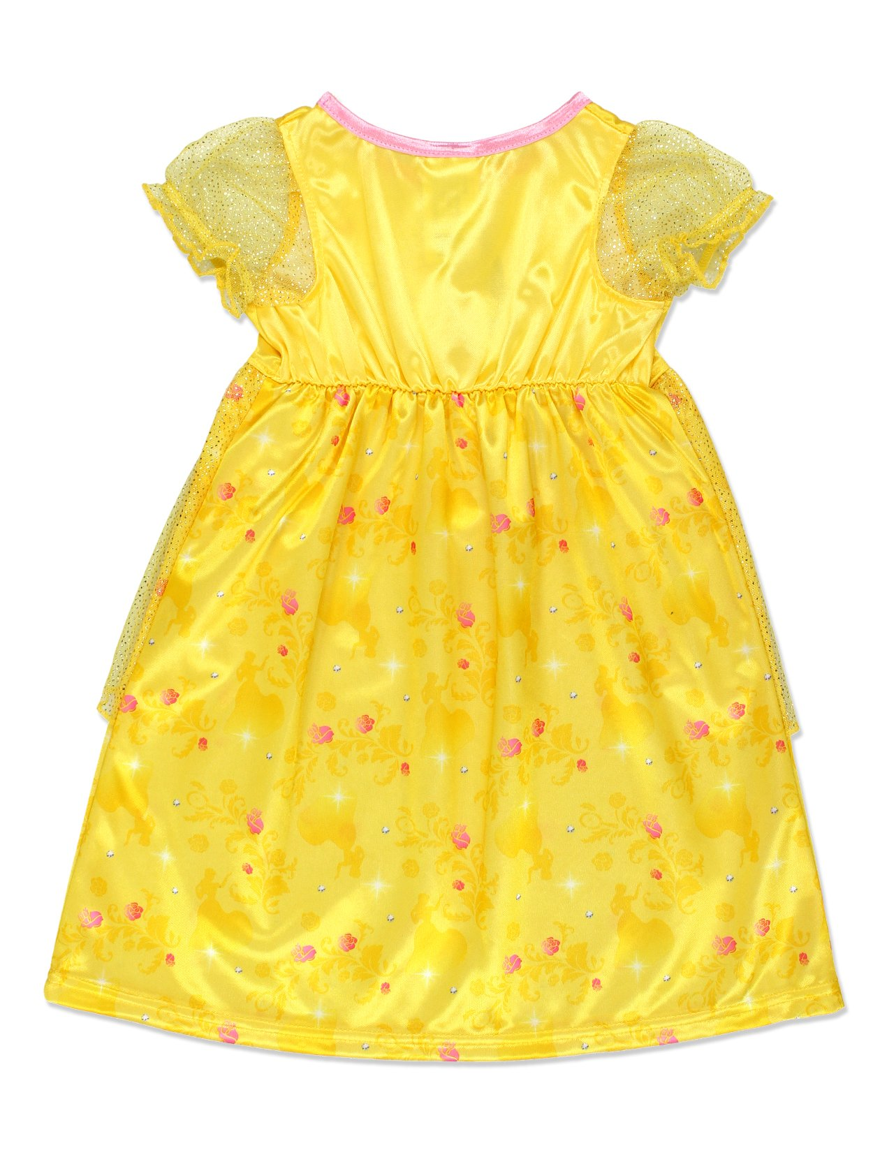 Disney Princess Belle Girls Fantasy Gown Nightgown (2T, Yellow/Multi) by Disney Princess (Image #2)