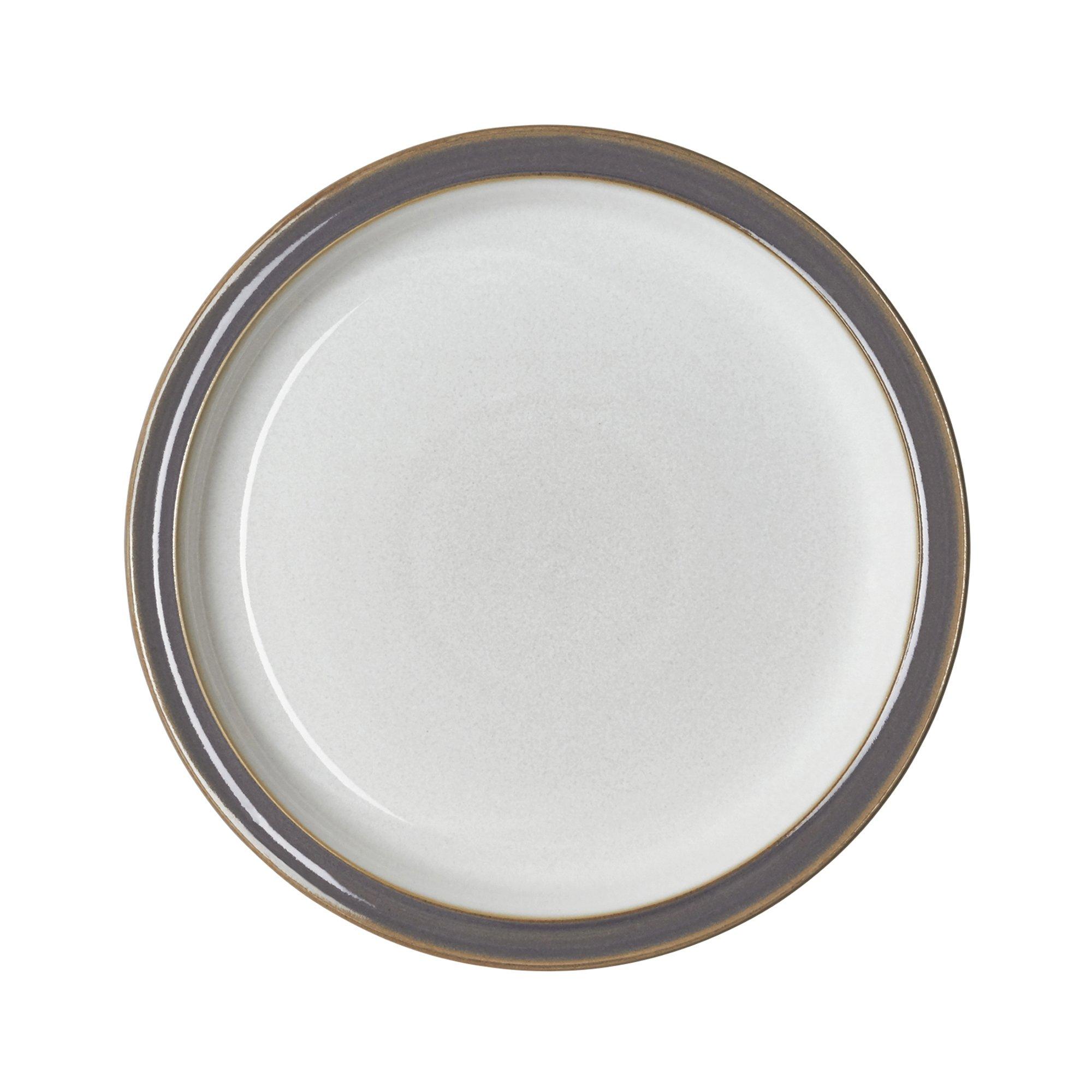 Denby USA Blends Truffle/Canvas Salad Plate, Brown/Cream