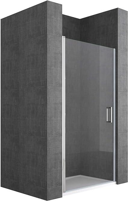 70 x 190 cm nichos Puerta/técnicos drehtür teramo22,, Con puertas, cristal de seguridad de vidrio transparente cristal, asas para puerta de acero inoxidable, incluye Nano revestimiento de: Amazon.es: Bricolaje y herramientas