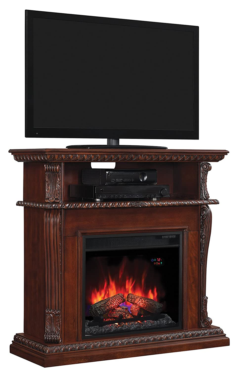 tv uk retro logs stand electric white sale fires vintage for antique insert fireplace heater