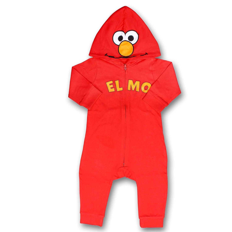 Sesame Street Boys Hooded Coverall Onesie 100/% Cotton