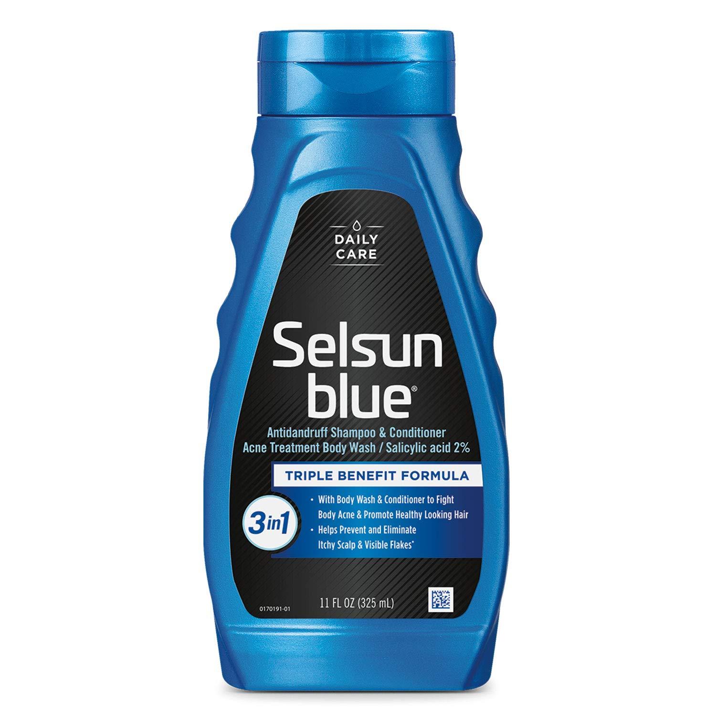 Selsun Blue Active 3-in-1 Dandruff Shampoo, 11 ounce