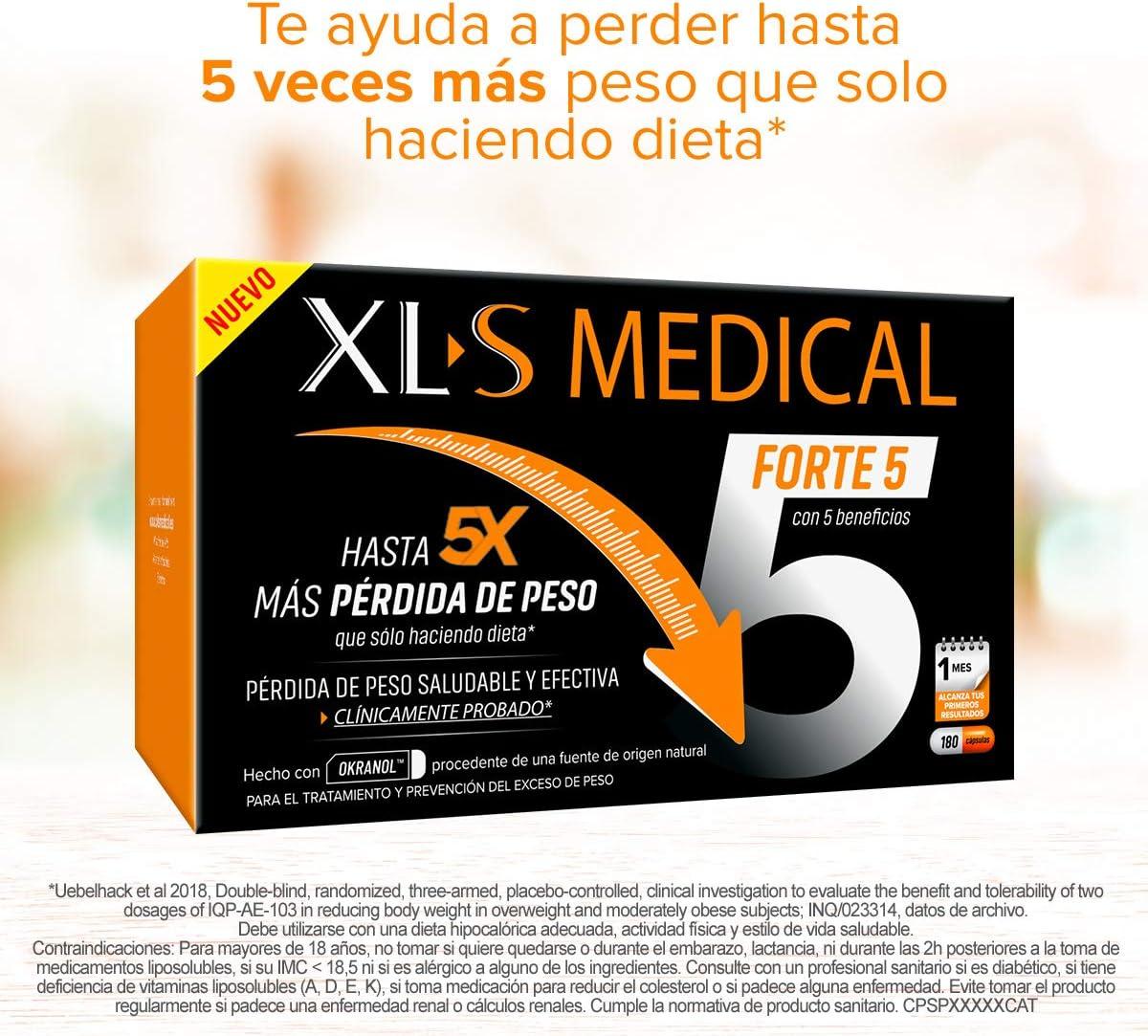 XLS Medical Forte 5 | Captagrasas | Pierde hasta 5 veces más peso ...
