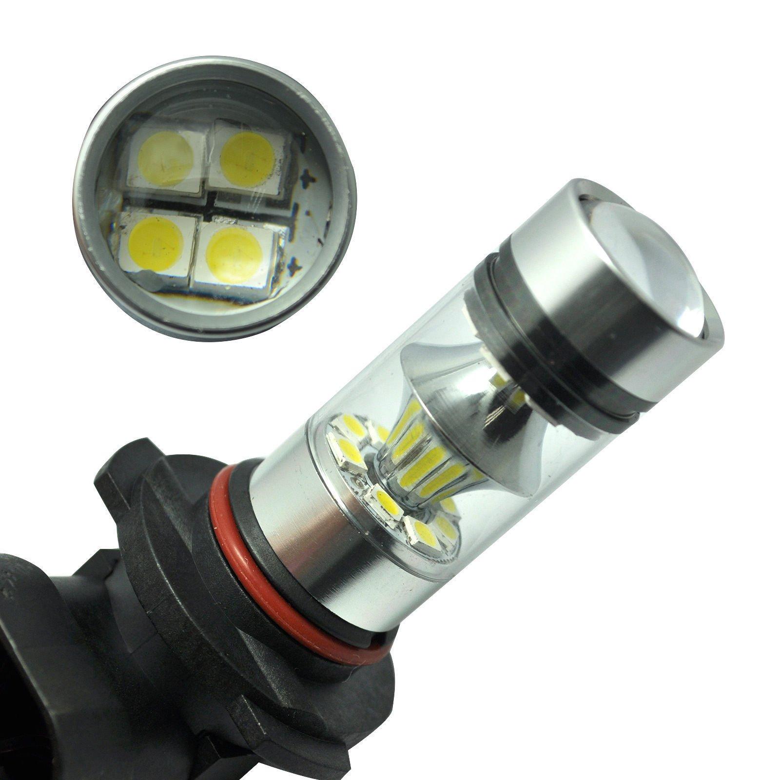 2 x 100W H10 9145 High Power CREE LED 6000K Super White Fog Light Lamp Bulbs by Carb Omar (Image #3)
