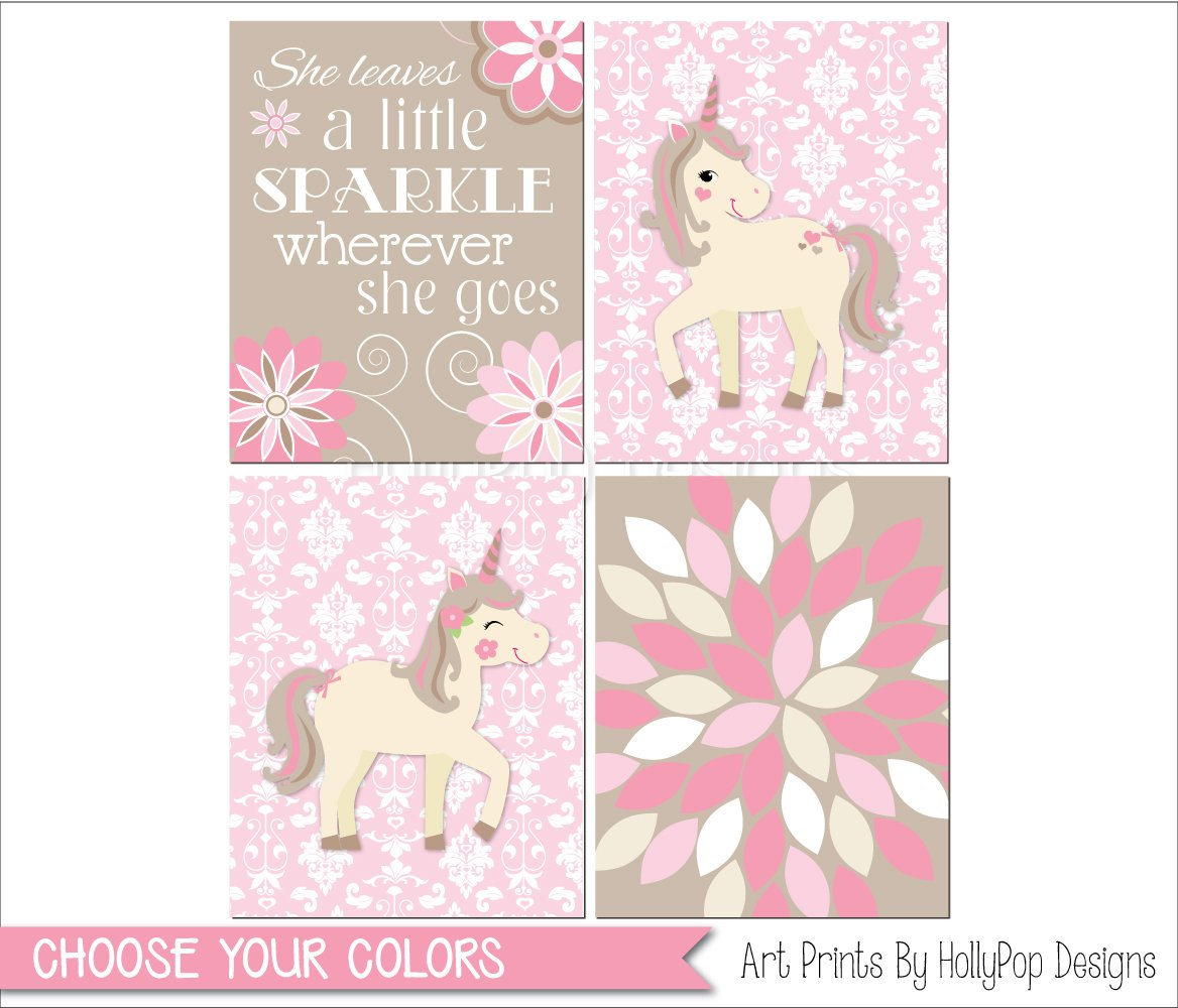 Amazon She Leaves A Little Sparkle Baby Girl Wall Quotes