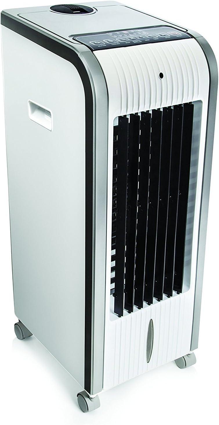 Climatizador calefactor ventilador digital, pingüino, frío 80 W, calor 1000 W-2000 W, humidificador ionizador portátil, todo en uno: Amazon.es: Hogar