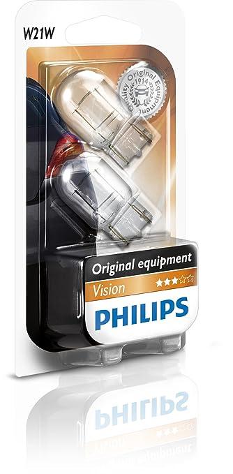 17 opinioni per Philips 12065B2- Lampadina con base in vetro W21W, 2 blister
