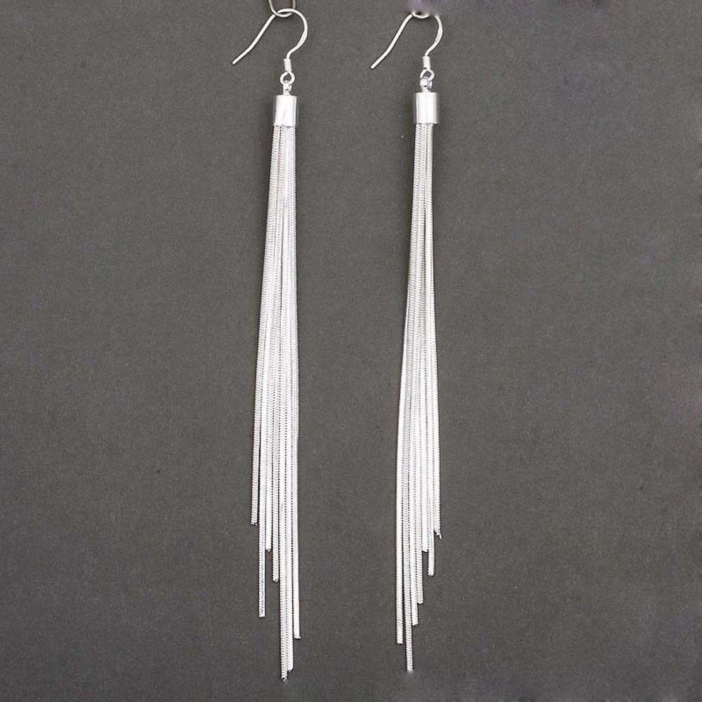 107572b09 Amazon.com: Ransopakul Women's Fashion Jewelry Silver Plated Long Hook  Tassels Drop Dangle Earrings HOT: Kitchen & Dining