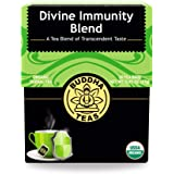 Buddha Teas Organic Divine Immunity Blend Tea | 18 Bleach-Free Tea Bags | Antiviral Properties with Antioxidants | Defense fo