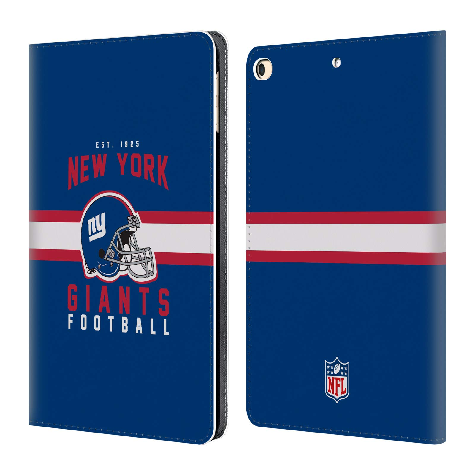 Official NFL Helmet Typography 2018/19 New York Giants Leather Book Wallet Case Cover for iPad 9.7 2017 / iPad 9.7 2018