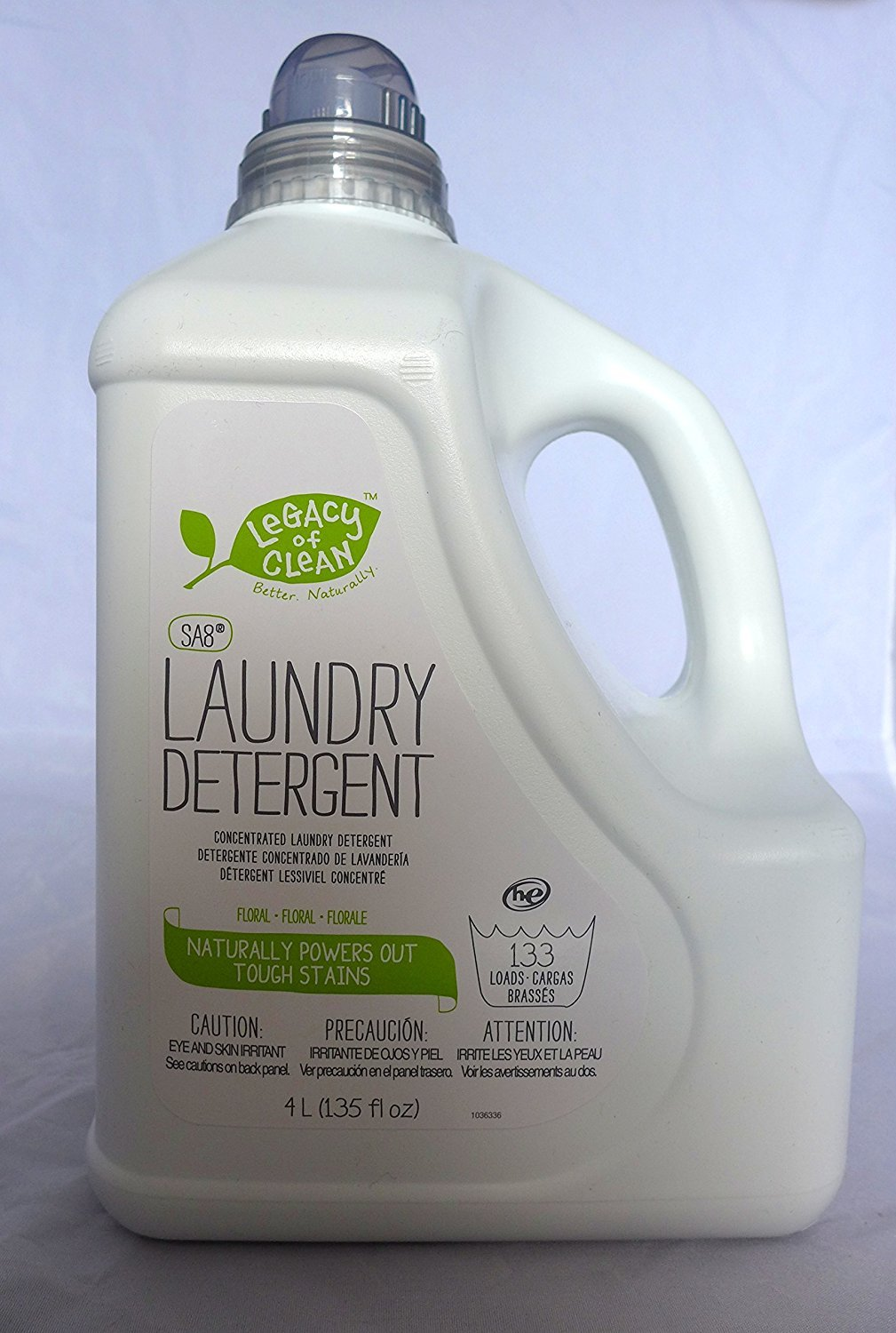 Legacy of Clean Sa8® Liquid Concentrated Laundry Detergent - Floral Scent (133+ Loads) 135 fl.oz New, Powerful Formula