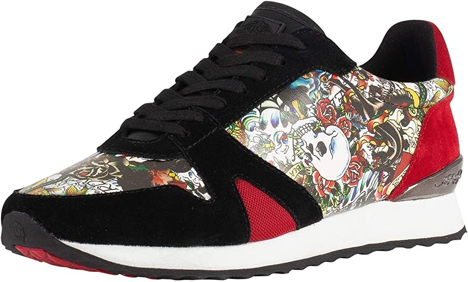 Ed Hardy Men's Covered Runner Suede