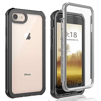AICase Funda iPhone 6/iPhone 6S/ iPhone 7/ iPhone 8,Transparente y Resistente,Case Protectora con Protector de Pantalla Incorporado para iPhone 6/ ...