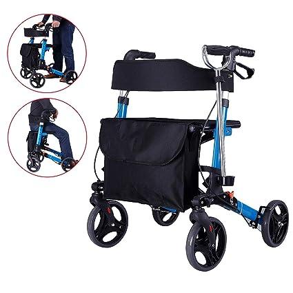 SHOW-WF Plegable Andador para Adultos Caminador Mayores, con ...