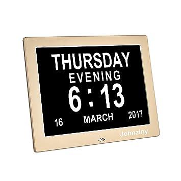 Amazon.com: 8 inch Cable de metal reloj de pared Clock- Day ...