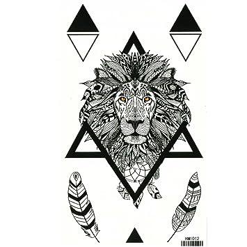Just Fox – temporäres Tattoo León plumas con pegamento Diseño de ...