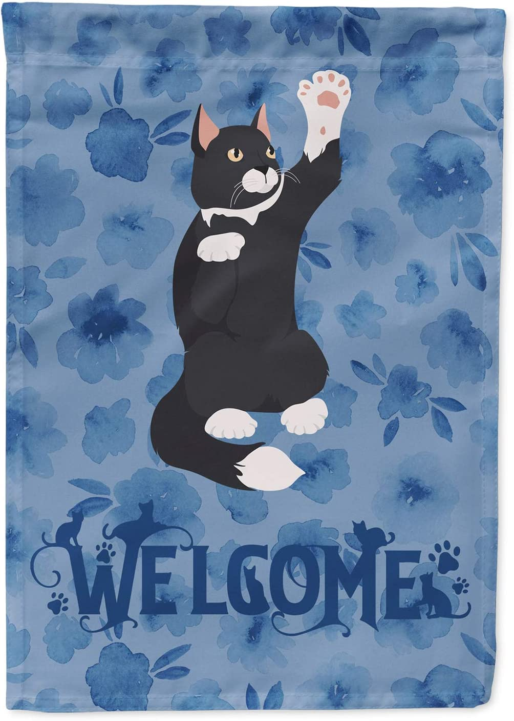 Caroline's Treasures CK5008GF American Polydactyl Cat Welcome Flag Garden Size, Small, Multicolor
