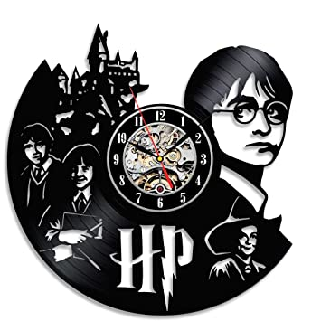 Reloj vinilo cámara pared Décor Regalo para los Fans de Harry Potter: Amazon.es: Hogar