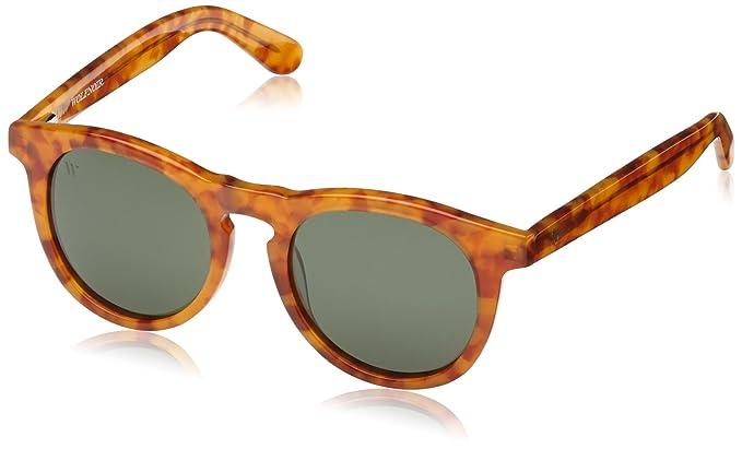 Wolfnoir, HATHI SPOTY DEGREEN - Gafas De Sol unisex multicolor (carey naranja/verde botella), talla única: Amazon.es: Ropa y accesorios