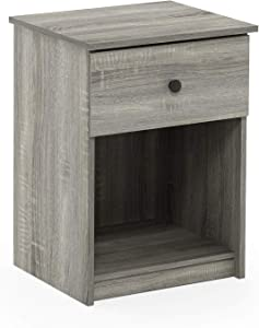 Furinno 219153GYW Lucca Nightstand, 2-Pack, French Oak Grey