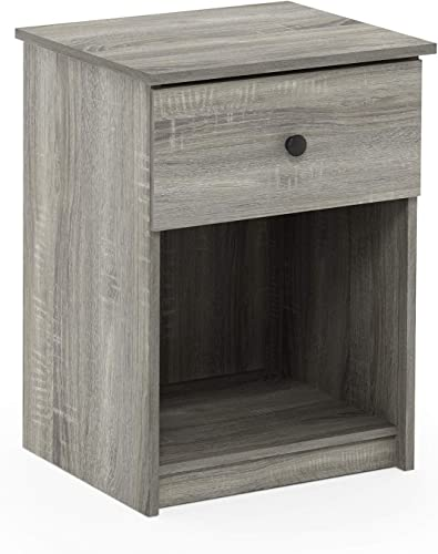 Furinno 219153GYW Lucca Nightstand