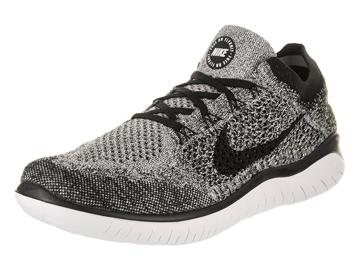 huge discount 0bfb2 0317c Amazon.com Nike Mens Free RN Flyknit 2018 (11.5 D US) White Sports   Outdoors