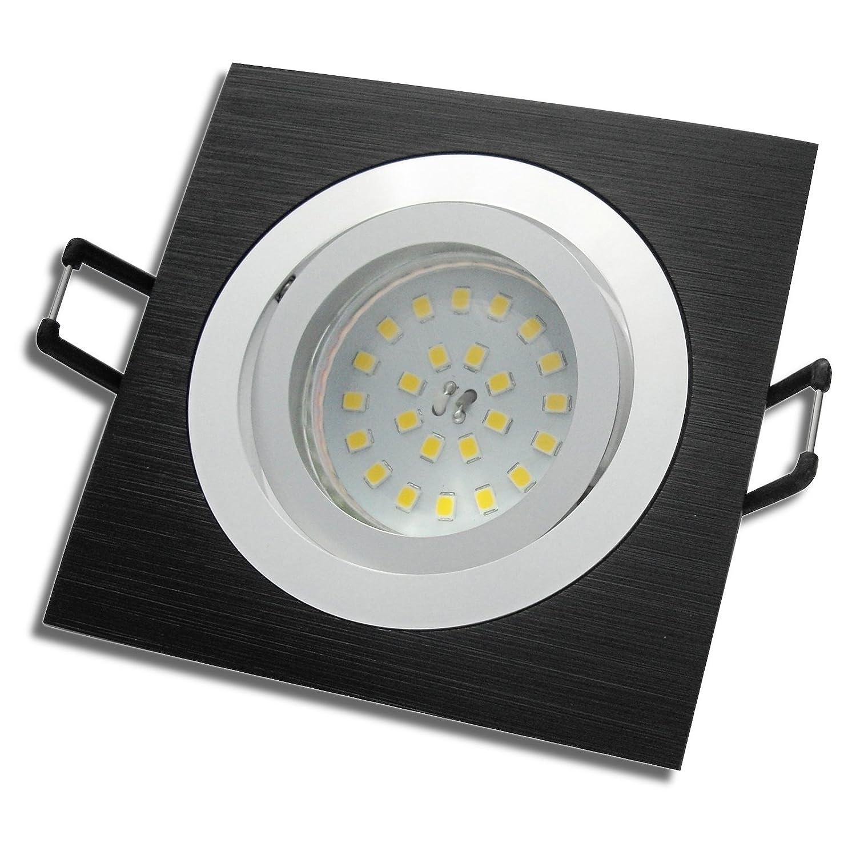 1 Stück MCOB LED Decken Einbaustrahler Linus 230 Volt 5 Watt Schwenkbar IP20