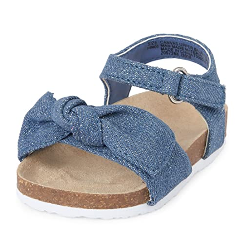 d90f7b4294986 Amazon.com | The Children's Place Girls' NBG Luna Flat Sandal Denim ...